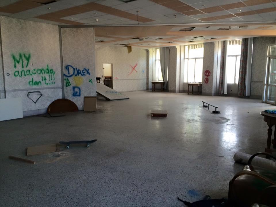 Home made skatepark