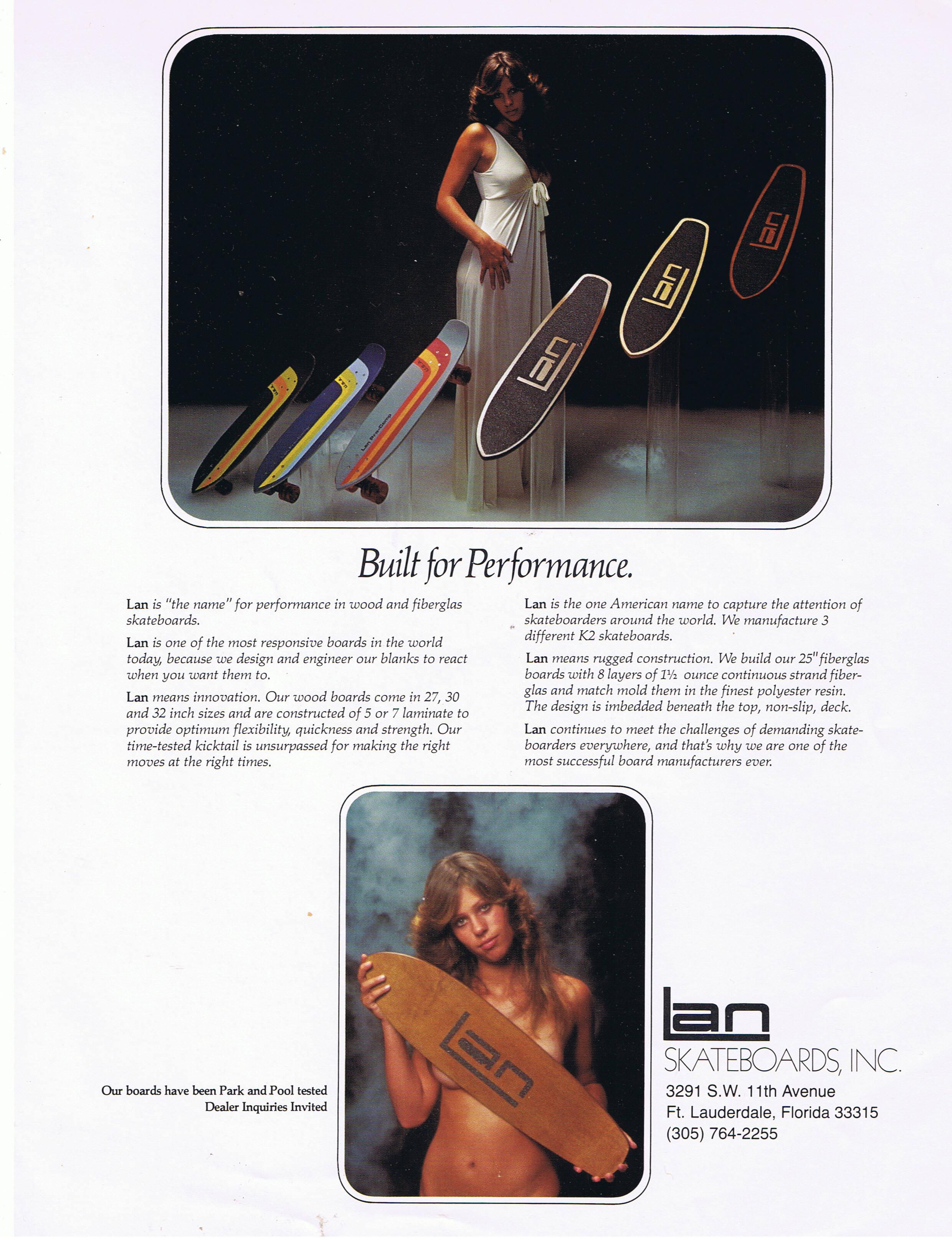 publicité lan skateboards années 70