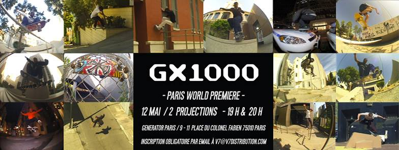 World premiere GX 100 x Thrasher magazine 12 mai 2016 Paris