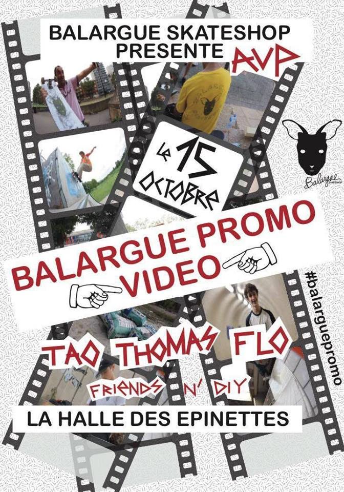 balargue skateshop promo video avant première paris