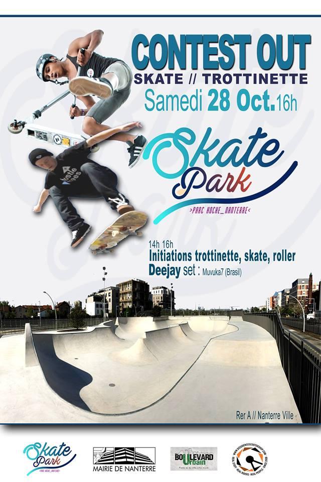 Skateboard Contest OUT Nanterre 28 octobre 2017