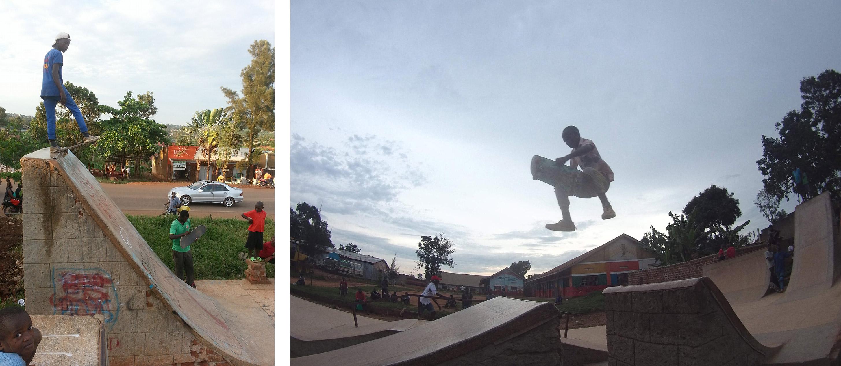 Module Skatepark Mukono Roule Petit Ougandais