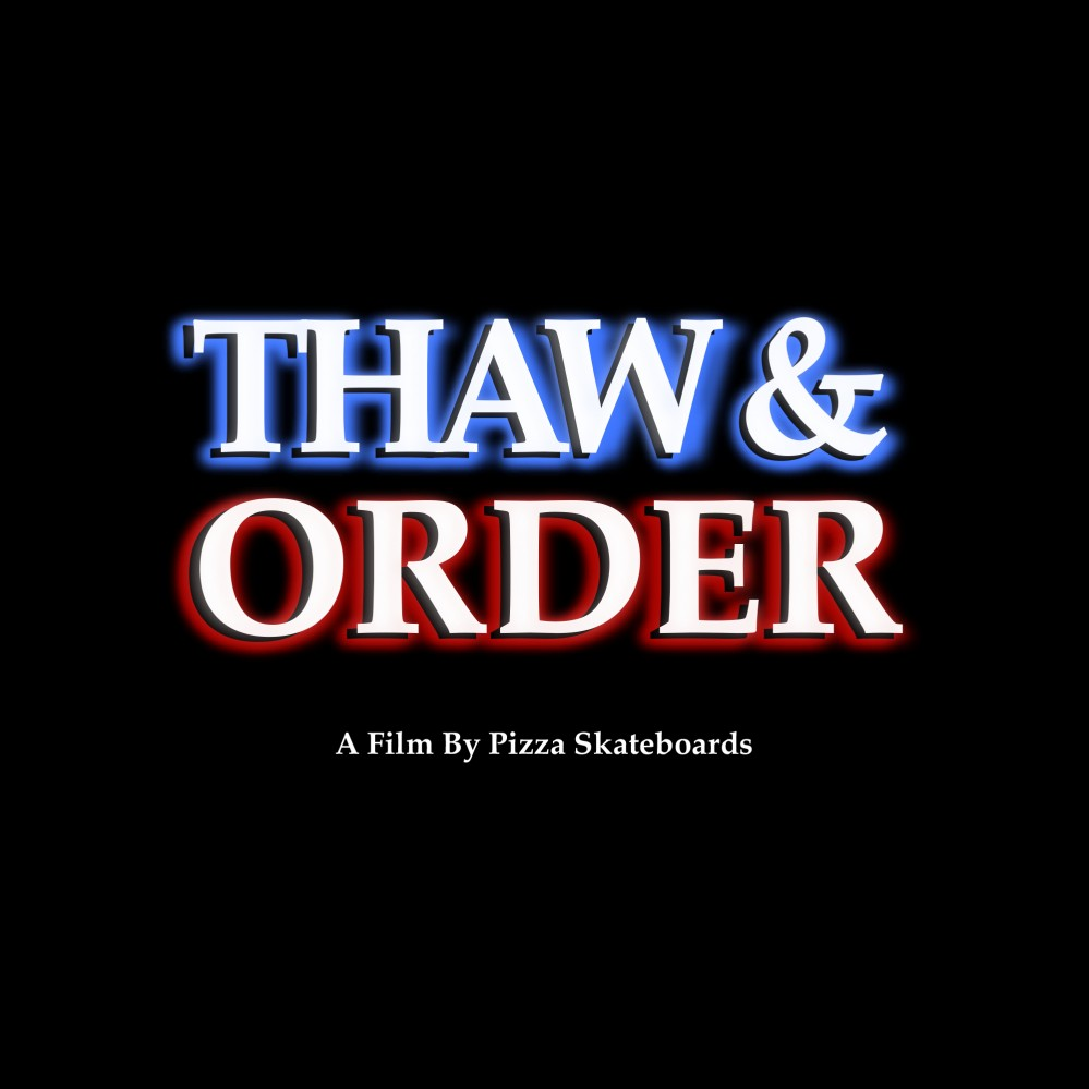 Thaw and Order Pizza Skateboards