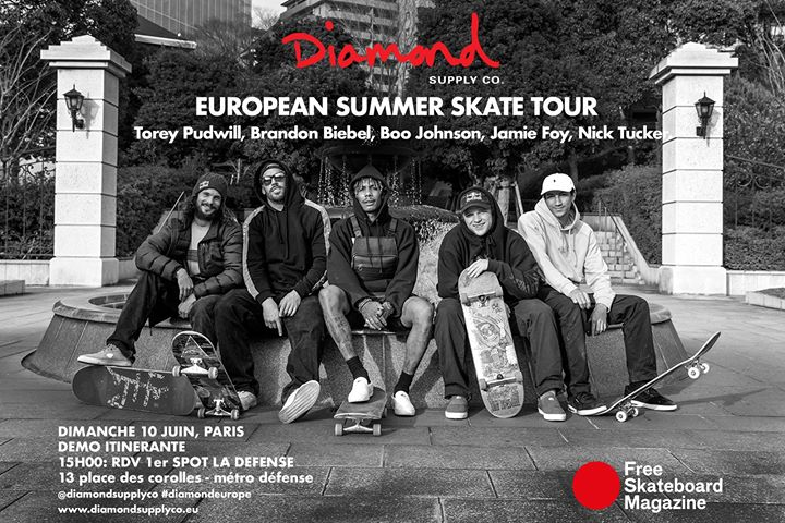 diamond european summer skate tour Paris 10 juin 2018